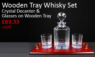 Wooden Tray Whisky Set
