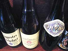 The Anderson Belgian Beer selection