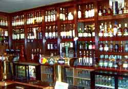 Whisky bar in the Lochside Hotel
