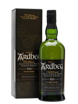 ardbeg whisky bottle