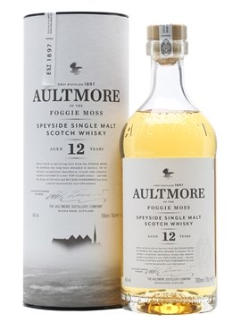 aultmore whisky bottle