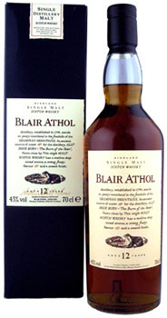 blair athol whisky bottle