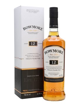 bowmore whisky bottle