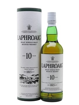 laphroaig whisky bottle