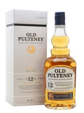 old pulteney whisky bottle