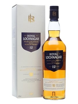 royal lochnagar whisky bottle