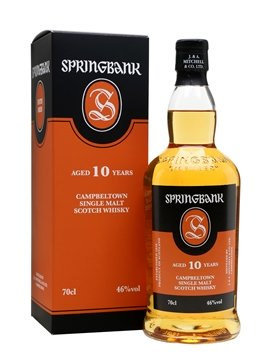 springbank whisky bottle