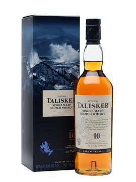 talisker whisky bottle