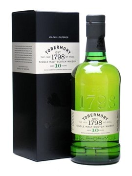 tobermory whisky bottle
