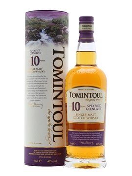 tomintoul whisky bottle