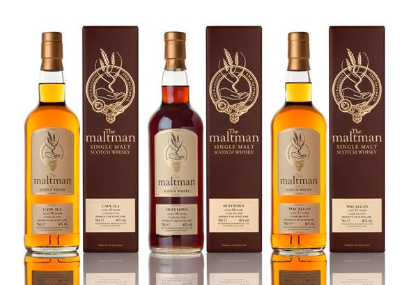 The Maltman range of exclusive bottlings of rare old single malts